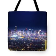 Los Angeles By Night Tote Bag