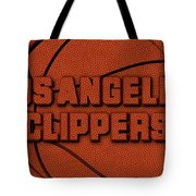 Los Angeles Clippers Leather Art Tote Bag