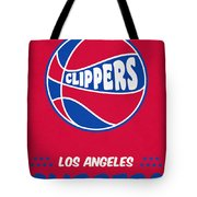Los Angeles Clippers Vintage Basketball Art Tote Bag