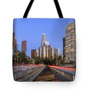 Los Angeles Downtown Night Scene Tote Bag