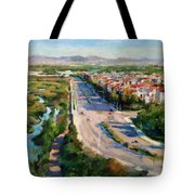 Los Angeles - Playa Vista From South Bluff Trail Road Tote Bag