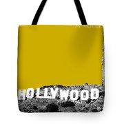 Los Angeles Skyline Hollywood - Gold Tote Bag