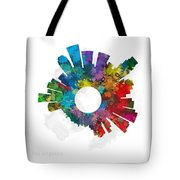 Los Angeles Small World Cityscape Skyline Abstract Tote Bag