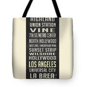 Los Angeles Vintage Places Poster Tote Bag