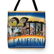 Los Angeles Vintage Travel Postcard Restored Tote Bag