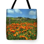 Los Olivos Poppies Tote Bag