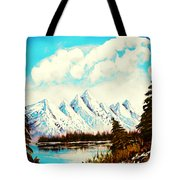 Lost Blue Lagoon - Elegance With Oil Tote Bag