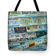 Lost In Plates Tote Bag