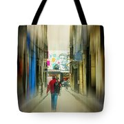 Lost In The Maze Of The City Tote Bag