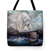 Lost In The World Of Giants Tote Bag