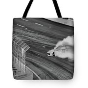 Lost It On The Turn Blkwht Tote Bag