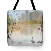 Lost Lagoon In Snow Tote Bag