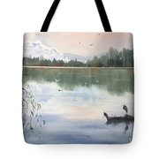 Lost Lagoon With Blue Heron Tote Bag