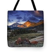 Lost River Mountains Moon Tote Bag