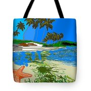 Lost Starfish On A Beach Tote Bag