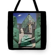 Lost Temple Of Alexandria Tote Bag