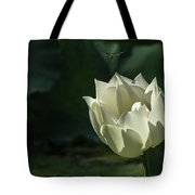 Lotos And Dragonfly Tote Bag