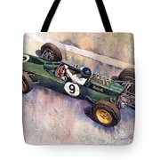 Lotus 25 F1 Jim Clark Monaco Gp 1963 Tote Bag