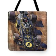 Lotus 72 Canadian Gp 1972 Emerson Fittipaldi  Tote Bag by Yuriy  Shevchuk