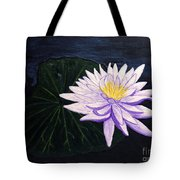 Lotus Blossom At Night Tote Bag