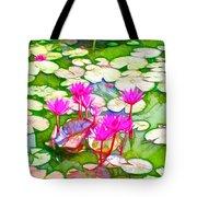 Lotus Flower 3 Tote Bag