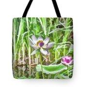 Lotus Flower On The Water Tote Bag