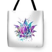 Lotus Flower Watercolor Print Tote Bag