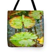 Lotus Flowers Leaves Tote Bag