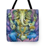 Lotus Ganesha Tote Bag by Sue Halstenberg