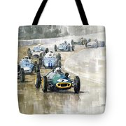 1961 Germany Gp  #7 Lotus Climax Stirling Moss Winner  Tote Bag