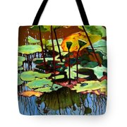Lotus In July Tote Bag by John Lautermilch
