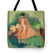 Lotus Maiden Tote Bag