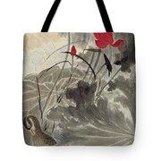 Lotus Mandarin Duck Tote Bag