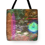 Lotus Of The Creek Tote Bag