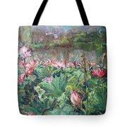 Lotus Pond-3 Tote Bag