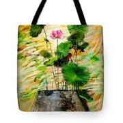 Lotus Tree In Big Jar Tote Bag