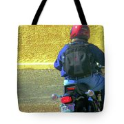Lou Riding Away Tote Bag