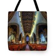 Loughborough Church - Nave Vertorama Tote Bag