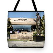 Louis Armstrong Bronze - Mahalla Jackson Theater - New Orleans Tote Bag