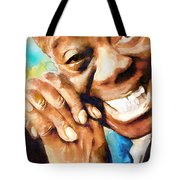 Louis Armstrong  What A Wonderful World  Tote Bag