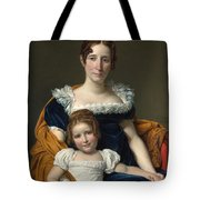 Louis David   Portrait Of The Comtesse Vilain Xiiii And Her Daughter Tote Bag