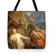 Louis Galloche - Saint Martin Sharing His Coat With A Beggar Tote Bag