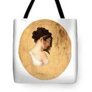 Louis-leopold Boilly - Profile Of A Young Womans Head Tote Bag