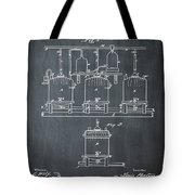 Louis Pasteur Brewing Beer And Ale Patent 1873 Chalk Tote Bag