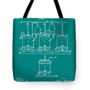 Louis Pasteur Brewing Beer And Ale Patent 1873 Green Tote Bag