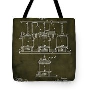Louis Pasteur Brewing Beer And Ale Patent 1873  Grunge Tote Bag