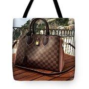 Louis Vuitton Handbag Overlooking The Amalfi Coast Tote Bag