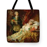 Louis Xv And Madame Dubarry Tote Bag