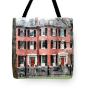 Louisburg Square Beacon Hill Boston Tote Bag