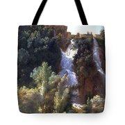 Louise-josephine Sarazin De Belmont  View Of The Falls At Tivoli Tote Bag